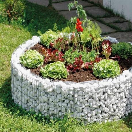 Gabbione rotondo 92 per aiuola in pietra orto e giardino for Aiuole in pietra