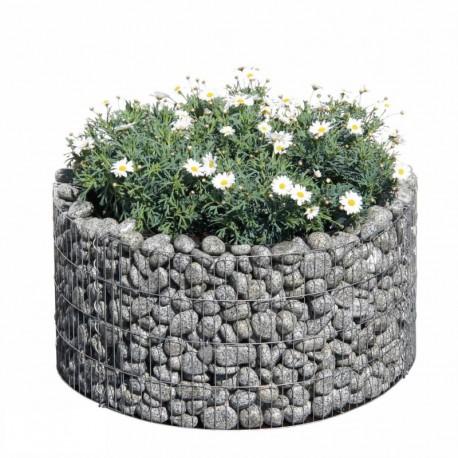 Gabbione rotondo 81 per orto e giardino rialzato for Sassi per fioriere