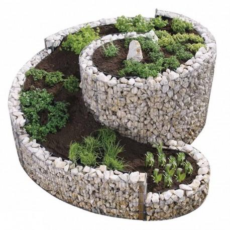 Gabbione a spirale 200x150 cm per orto e giardino rialzato for Sassi per fioriere