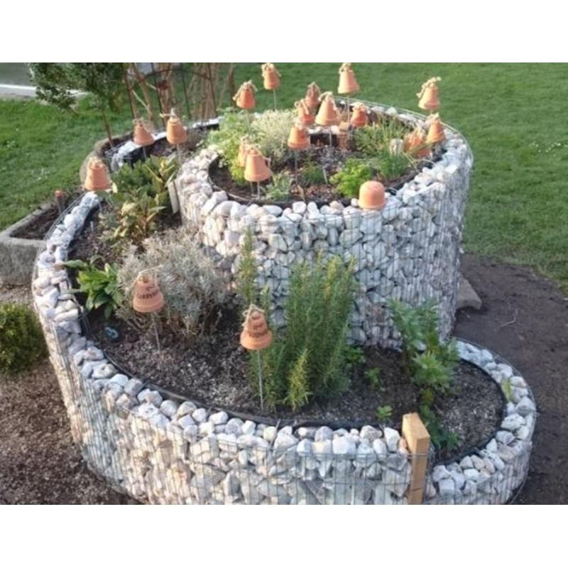 Gabbione a spirale 200x150 cm per orto e giardino rialzato for Bordi per aiuole fai da te
