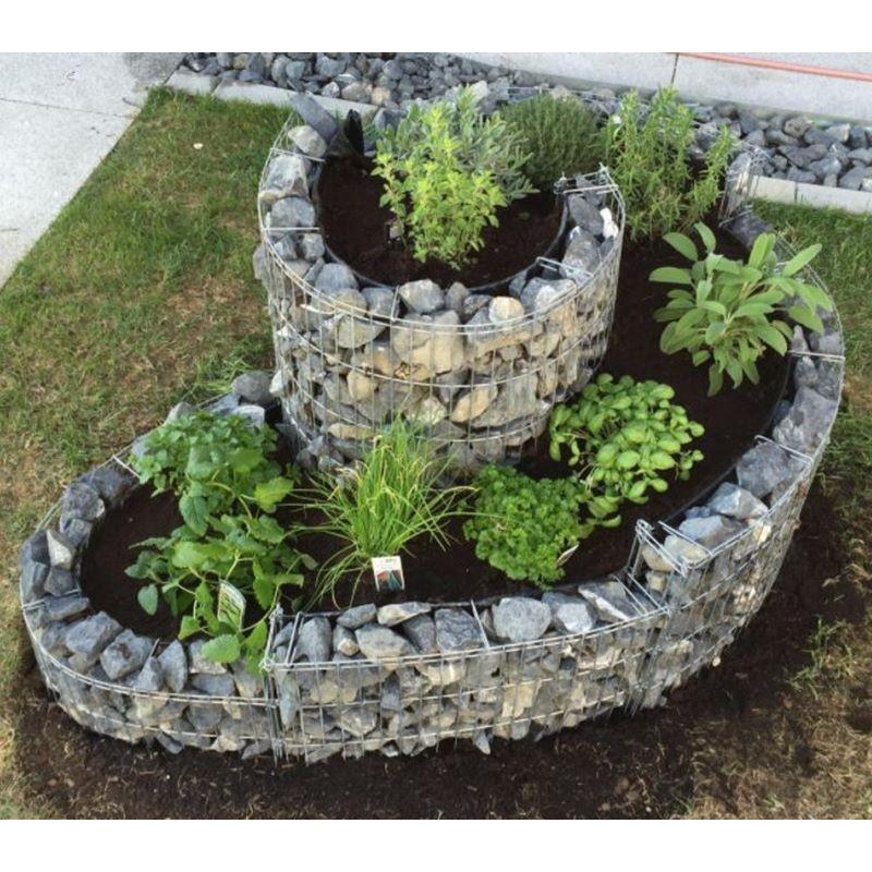 Gabbione a spirale 110x90 cm per orto e giardino rialzato for Piante grasse per aiuole