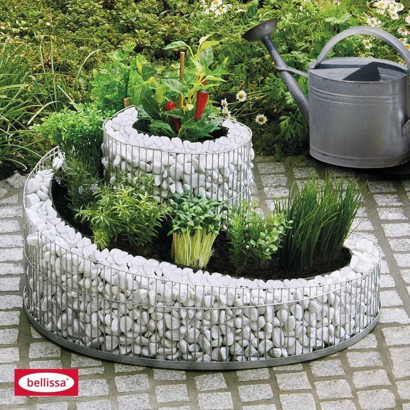 gabbione spirale 57x42 cm per orto rialzato o fioriera da giardino. Black Bedroom Furniture Sets. Home Design Ideas