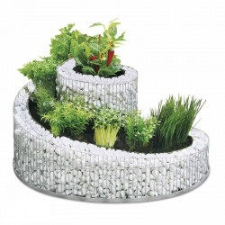 Gabbione spirale per orto rialzato o fioriera da giardino