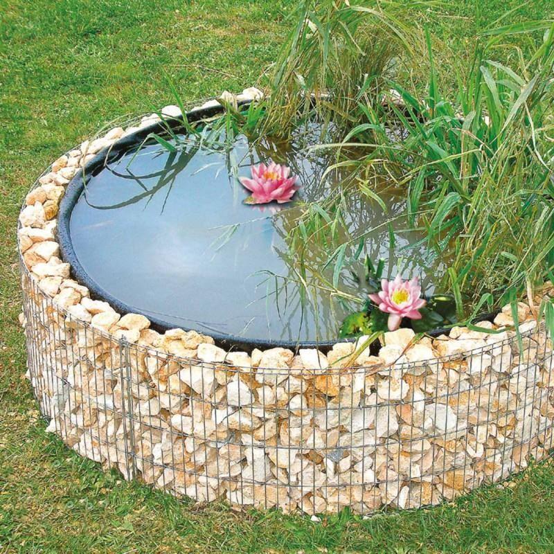 Vasca Da Giardino In Pvc.Laghetto Artificiale Da Giardino Con Gabbione Rotondo O 146 Cm