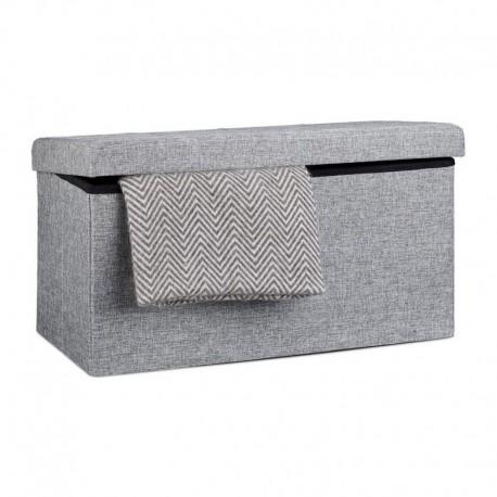 Pouf contenitore portaoggetti rettangolare in tessuto