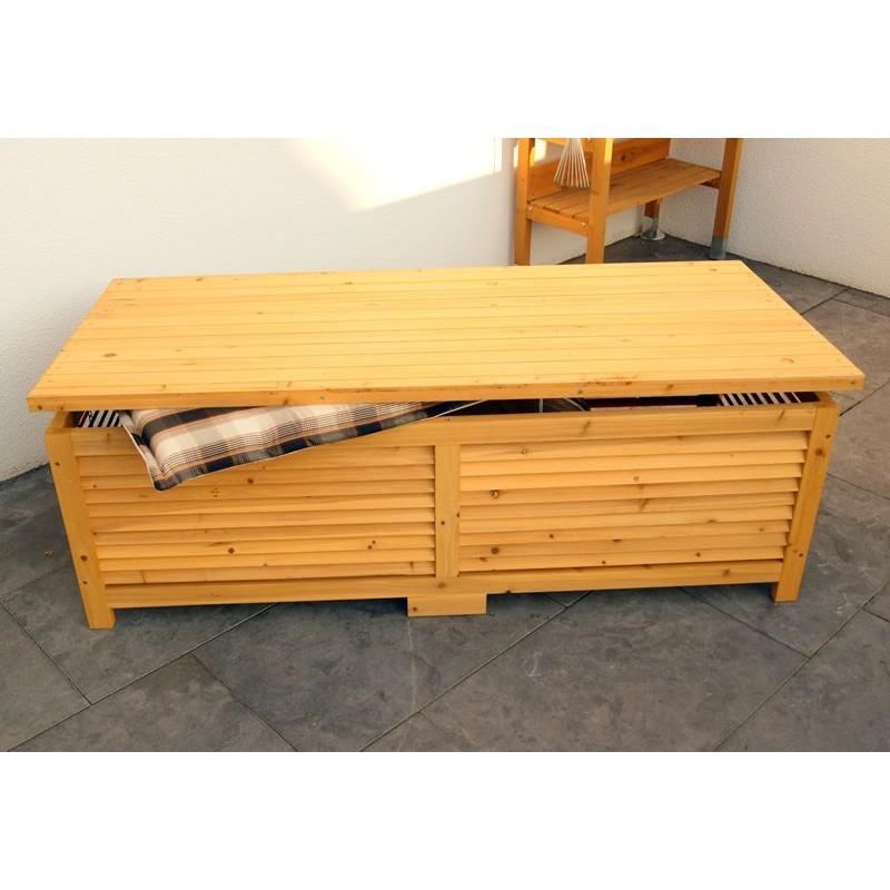 Cassapanca da esterno in legno per giardino balcone o - Panca contenitore esterno ...