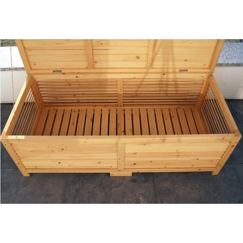 Cassapanca da esterno in legno per giardino balcone o for Cassapanca da esterno in plastica