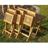 Tavolino, sedie e panca in legno pieghevoli da giardino per bambini