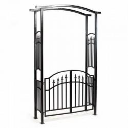 Arco da giardino con cancello in ferro
