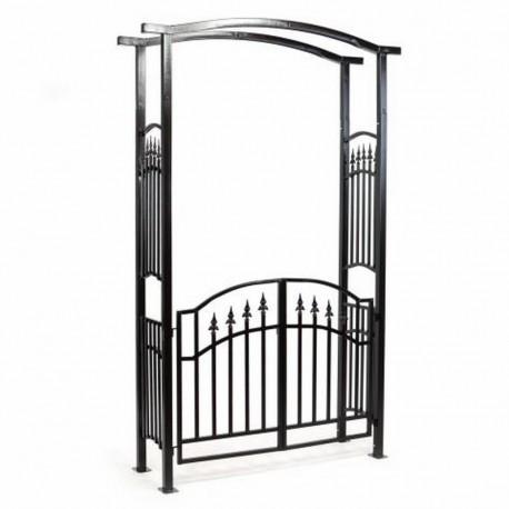 Arco da giardino con cancello in ferro for Arco decorativo giardino