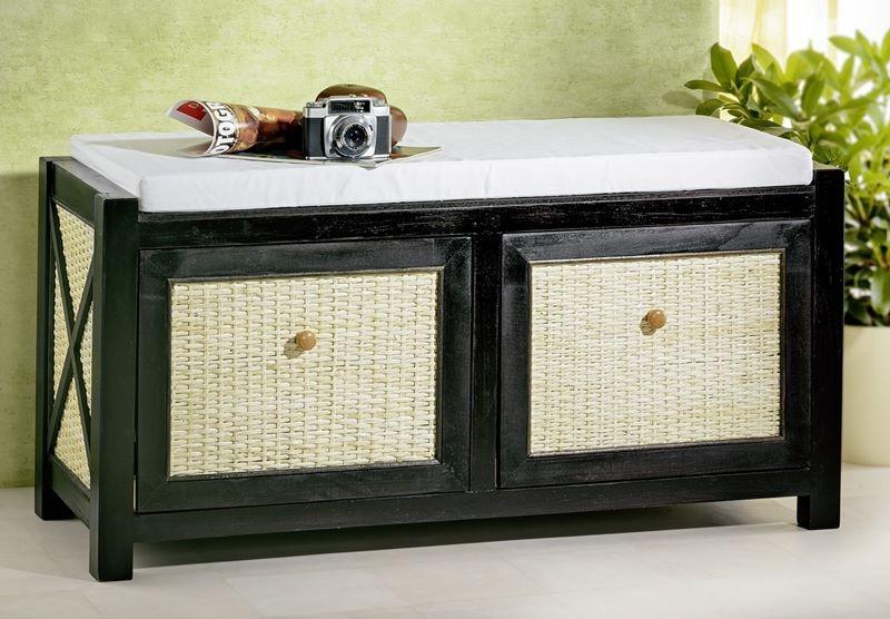 Panca Contenitore Bagno : Panca contenitore in legno da interno