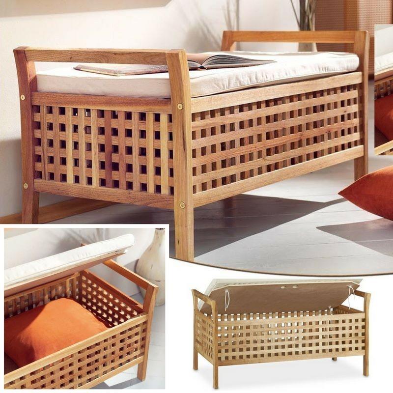 cassapanca in legno da interno