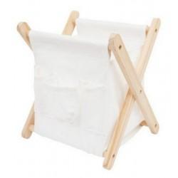 Portariviste pieghevole in legno e tessuto