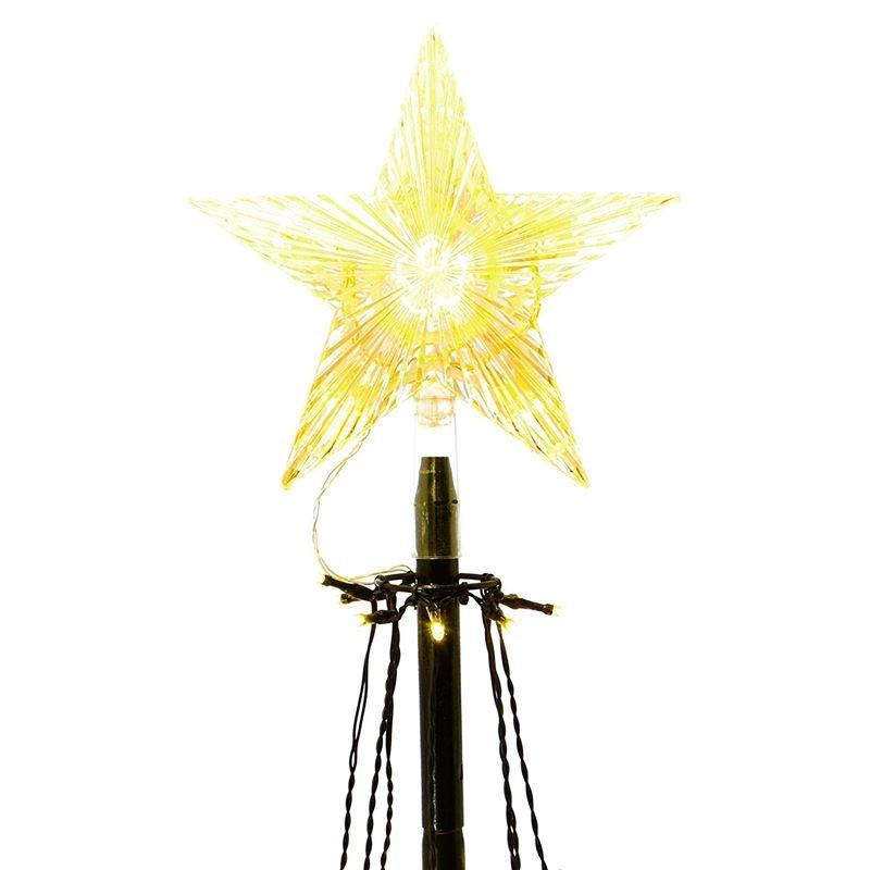 Stella Albero Di Natale Luminosa.Albero Di Natale Moderno E Luminoso Da Esterno Alto 180 Cm
