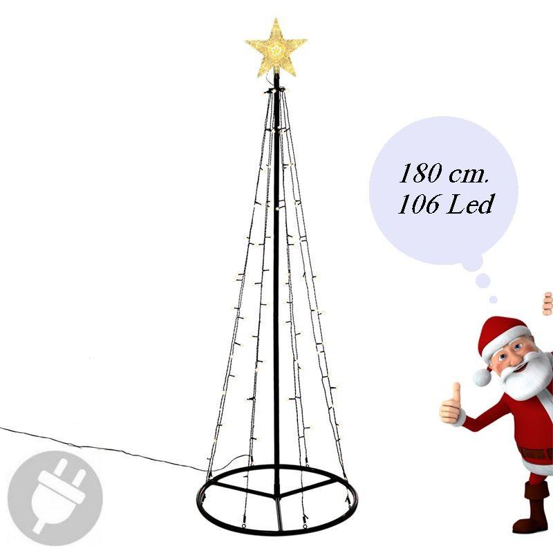 Albero Di Natale Moderno Fai Da Te.Albero Di Natale Moderno E Luminoso Da Esterno Alto 180 Cm