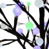 Albero di Natale con luci led bianco caldo e colorati alto 180 cm.
