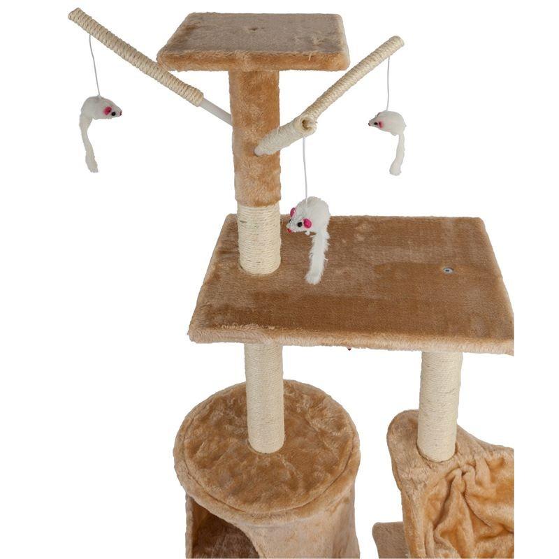Tiragraffi per gatti con graffiatoio cuccia e giochi alto - Tiragraffi da esterno ...