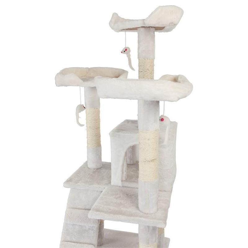 tiragraffi per gatti con graffiatoio cucce e giochi alto 170 cm. Black Bedroom Furniture Sets. Home Design Ideas