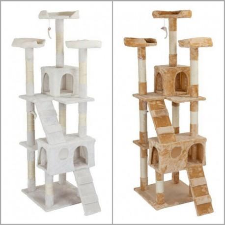 Tiragraffi per gatti con colonne graffiatoio, cucce e giochi