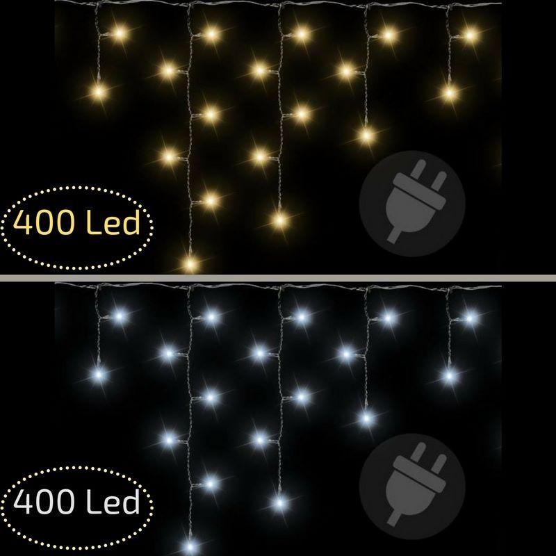 Tende Luminose Da Esterno.Luci Di Natale Da Esterno Tenda Luminosa Fiocchi Di Neve 400 Led
