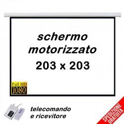 Telo per proiettore motorizzato da parete 203x203