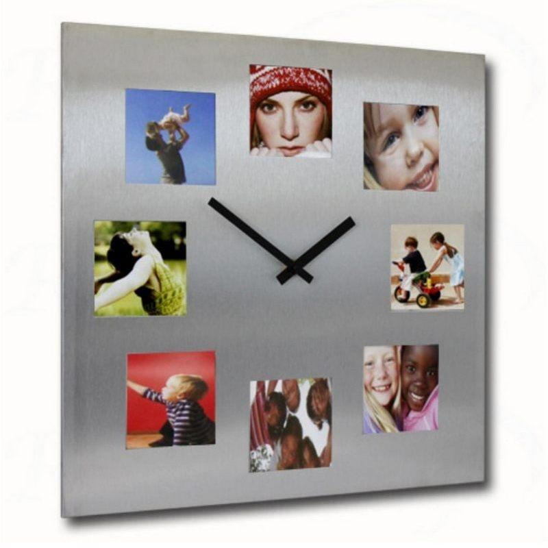 Parete Piante Artificiali : Orologio portafoto da parete