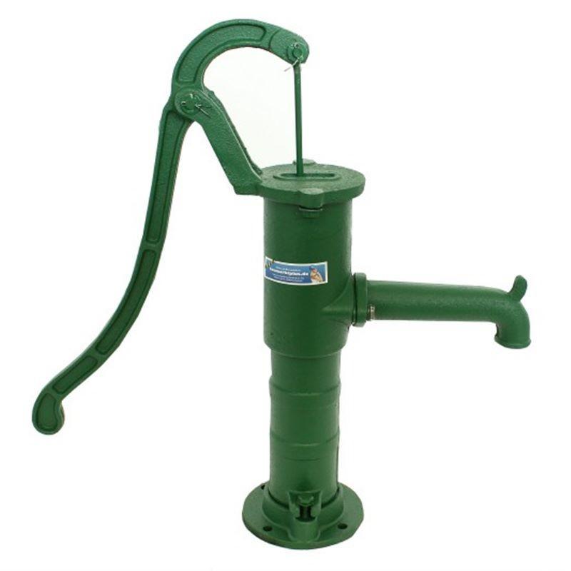 Fontanella a mano da giardino con pompa per pozzo in ghisa for Pompe per fontane da giardino