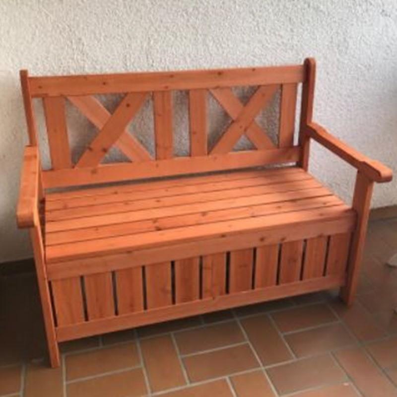 Panchina contenitore da esterno e cassapanca in legno per - Panca contenitore esterno ...