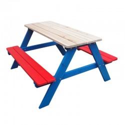 Tavolo e panche per bambini in legno da giardino