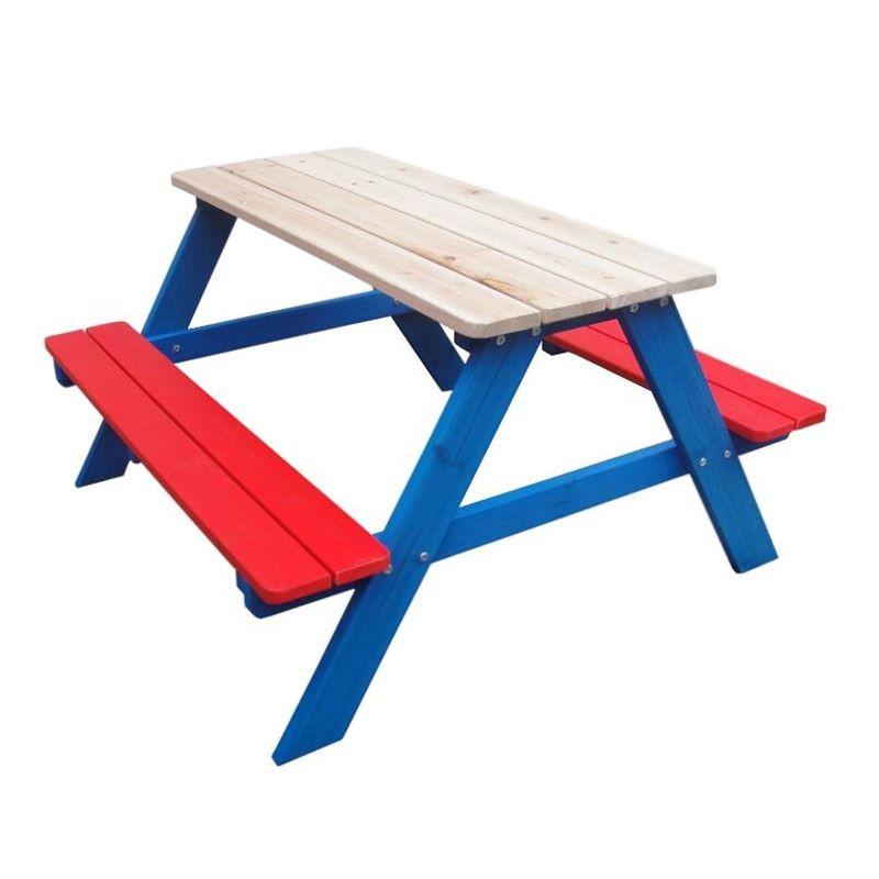 Tavoli Pieghevoli Per Bambini.Tavolo E Panche Per Bambini In Legno Da Giardino