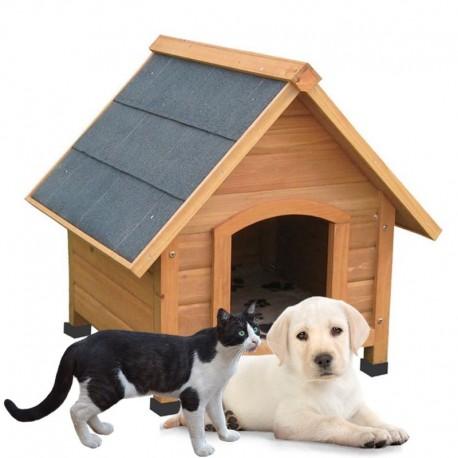 Cuccia per cani o gatti da esterno in legno