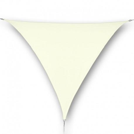Vela ombreggiante da giardino in poliestere crema triangolare
