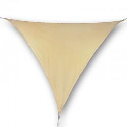 Vela ombreggiante da giardino in poliestere beige triangolare