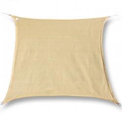 Tenda a vela ombreggiante da giardino in poliestere beige quadrata