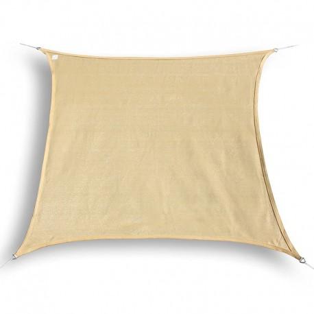 Tenda a vela ombreggiante da giardino in HDPE beige quadrata