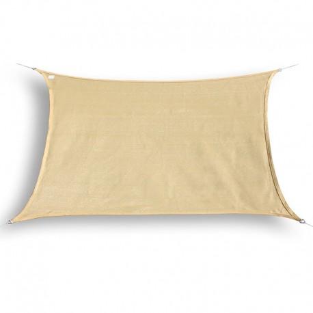Tenda a vela ombreggiante da giardino in HDPE beige rettangolare