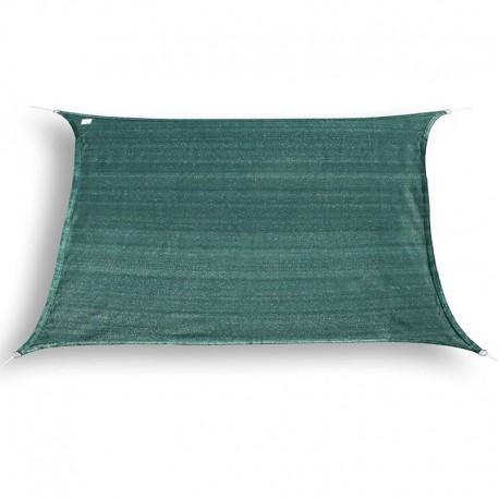 Tenda a vela da giardino ombreggiante rettangolare in HDPE verde