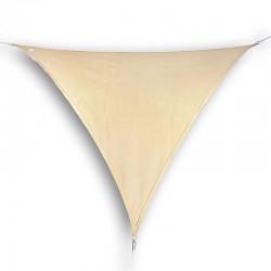 Vela ombreggiante triangolare da giardino in HDPE beige