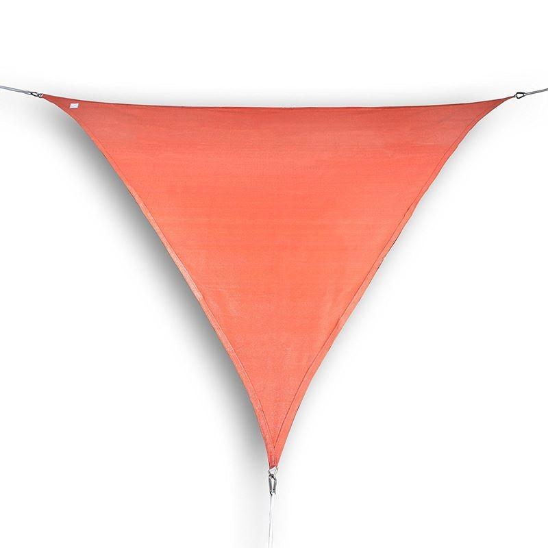 vela ombreggiante triangolare da giardino parasole in hdpe terracotta. Black Bedroom Furniture Sets. Home Design Ideas