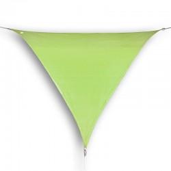 Vela ombreggiante triangolare da giardino in HDPE lime