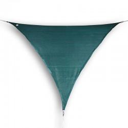 Vela ombreggiante triangolare da giardino in HDPE verde