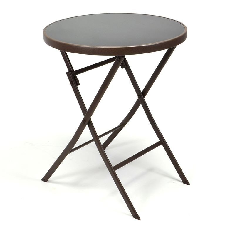 Set bistrot tavolo pieghevole e 2 sedie per arredo esterno - Tavolo esterno pieghevole ...