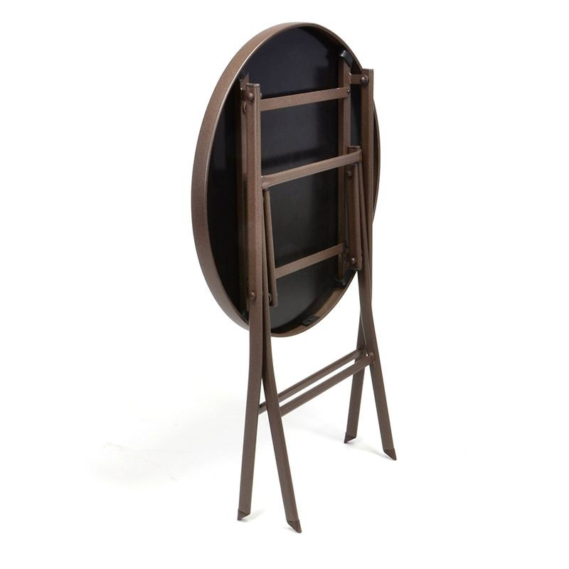 Set bistrot tavolo pieghevole e 2 sedie per arredo esterno - Set tavolo e sedie da esterno ...