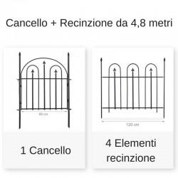 Cancello e recinzione giardino in ferro