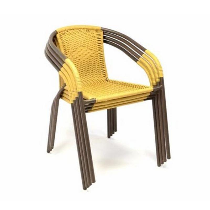 Set bistrot tavolo rettangolare e 4 sedie per arredo esterno