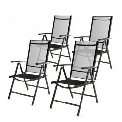 Sedie da giardino in alluminio pieghevoli reclinabili
