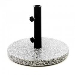 Base per ombrellone da giardino in granito rotonda da 10 kg.