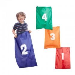 Corsa con i sacchi per bambini