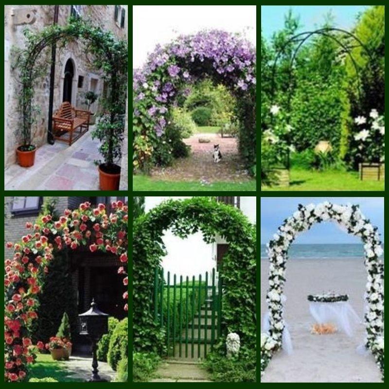 Archetto per rampicanti e rose da giardino in ferro for Rose da giardino
