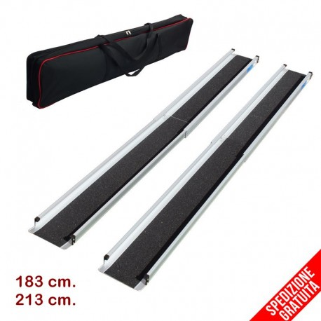Coppia rampe disabili telescopiche portatili in alluminio IVA agevolata